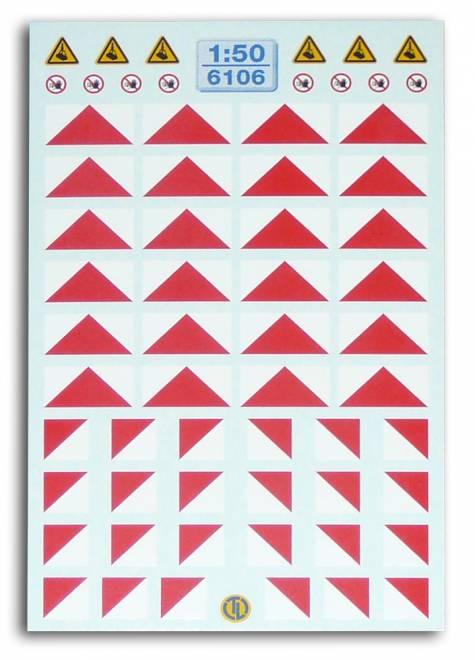 Warnecken Rot/Weiss -Für Kran-Ballastgewichte