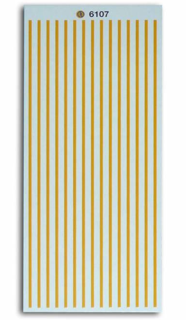 Gelbe Warnstreifen -Strichstärke ca. 1,4 mm