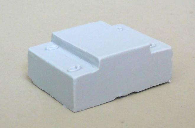 Beton-Ballastgewicht- 1 Stück Ballastgewicht Beton-Nachbildung mit angedeuteten Kranösen Masse ca. 37 x 28 x 15 mm, Material...
