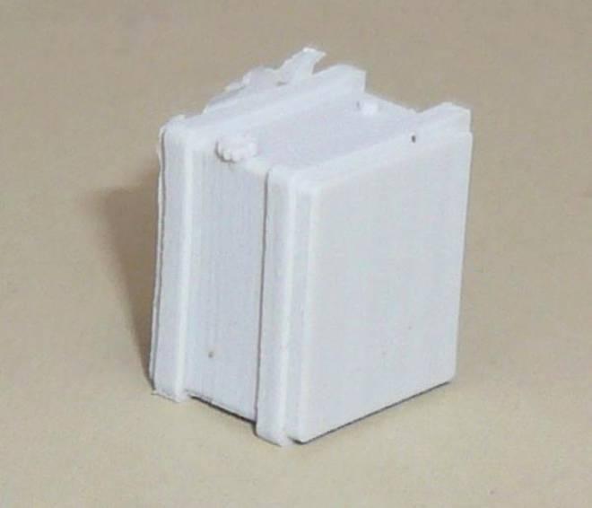 Zusatztank, klein ca. 11 x 15 x 14 mm, Material ist Resin