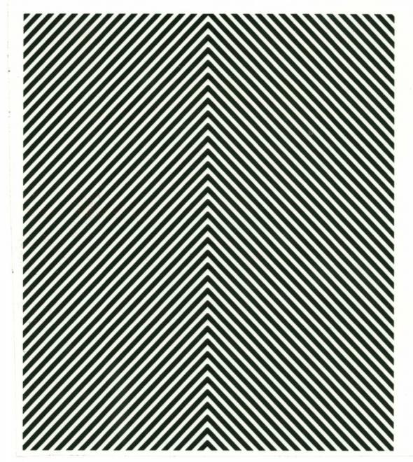 schwarz mit klaren Streifen 13 cm x 15 cm
