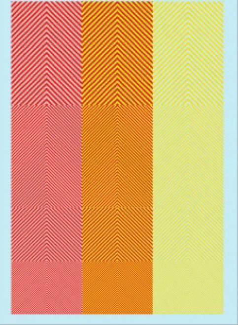 Streifen (90 x140 mm) leuchtgelb/rot