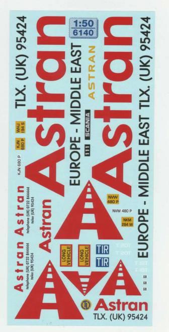 Astran UK     Beschriftung