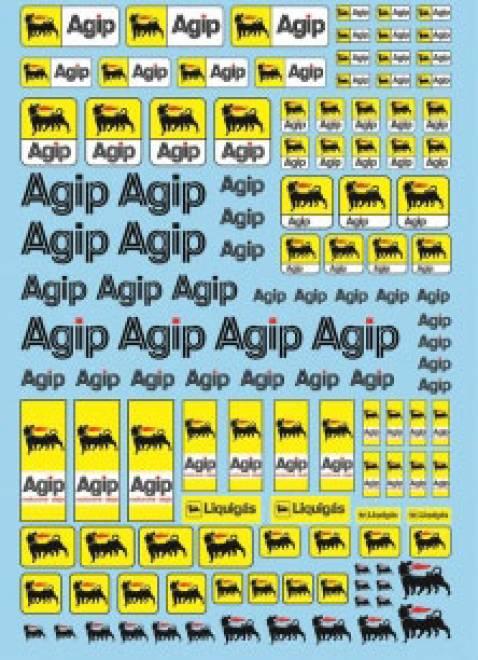 Öl Produkte 8 Agip Sponsoren Decal (140x90 mm)