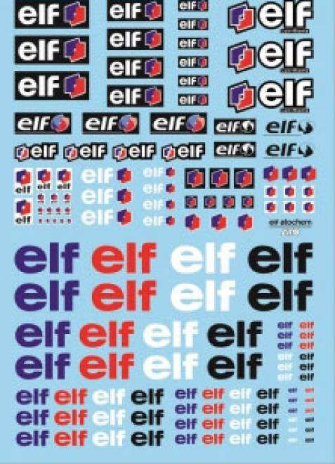 Öl Produkte 10 elf Sponsoren Decal (140x90 mm)