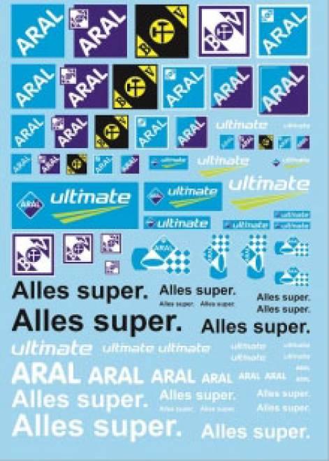 Öl Produkte 11 aral Sponsoren Decal (140x90 mm)