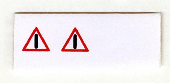 rotes Dreieck Achtung Schwertransport (2 Stück)