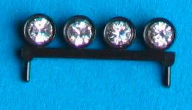 Lampenbügel 4 Lampen universal schwarzer Kunstoff