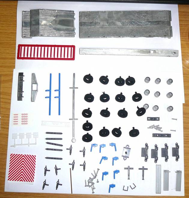 Satteltieflader 4achs hinten Bausatz/Kit ohne Rampen ohne Farbe