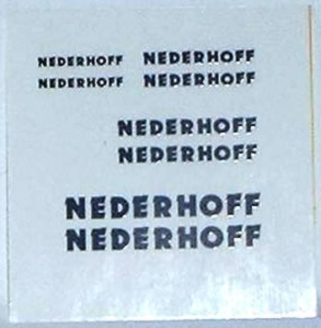 bogen (8 stück) -Nederhoff - Spedition