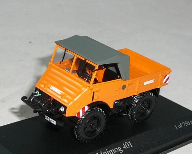 Unimog 401 mit Seilwinde -1951- in orange