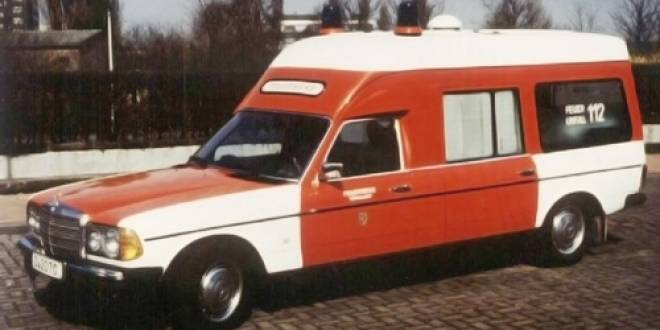 -BENZ 300D (W123) - 1977 - KRANKENWAGEN ´FEUERWEHR DÜSSELDORF´