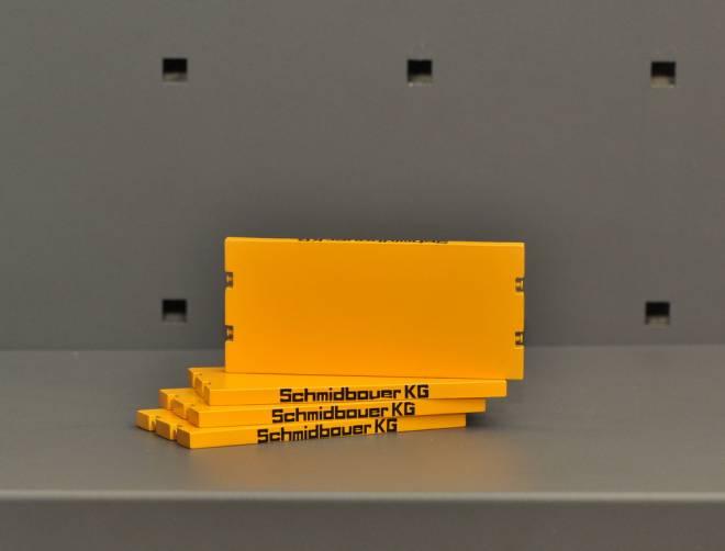 Base plate 11cm x 5cm  set / 4 piece - Yellow RAL 1007
