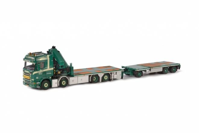 R Streamline Highline Palfinger + Jib + Flat body + Jumbo extendable trailer
