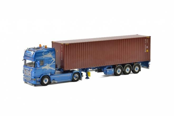 R Topline Containerauflieger (3 Achs) & 40 Fuss Container