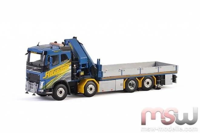 FH4 Sleeper Cab Riged Flatbed Truck + Palfinger 15000.2 + Jib