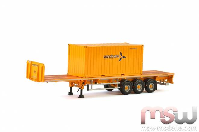 Flatbed Trailer + 20FT Container
