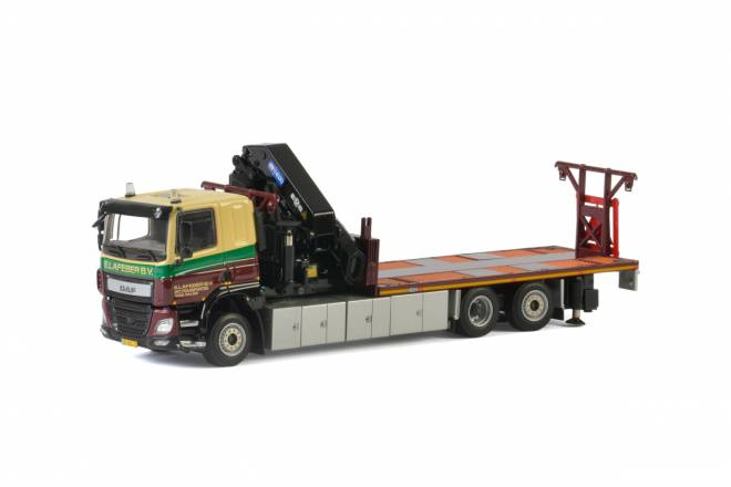 CF Sleeper cab Riged Flatbed Truck + Palfinger 7800.2