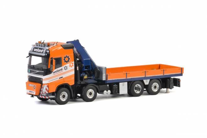 FH4 Globetrotter  Riged Flat Bed Truck + Palfinger PK 92002 SH + JIB