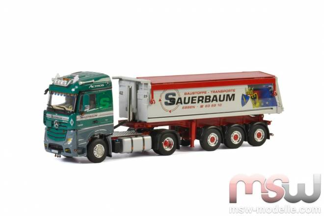 Benz Actros MP4 Stream Space Tipper Trailer - 3achs
