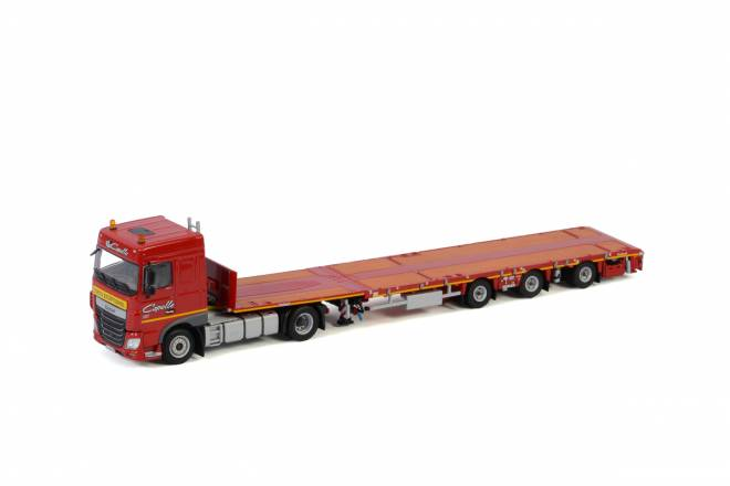 XF SPACE CAB 4X2 MEGATRAILER FLATBED - 3 AXLE