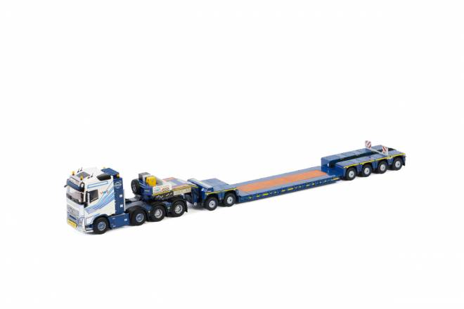 FH4 GLOBETROTTER 8X4 LOW LOADER 4 AXLE | DOLLY 2achs
