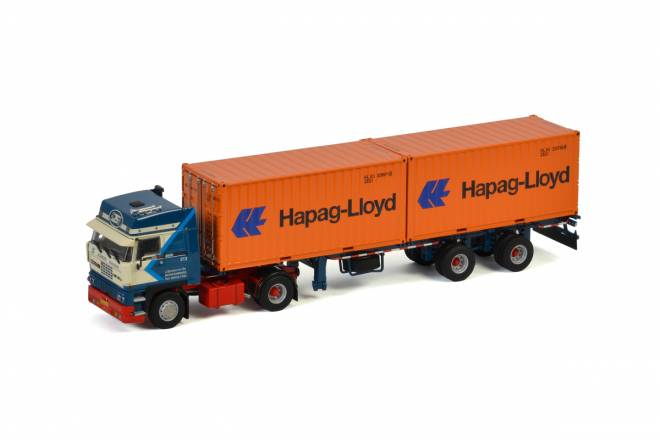 3600 SPACE CAB 4X2 CONTAINER TRAILER 2achs + 2X 20 FT CONTAINER HAPAG LLOYD