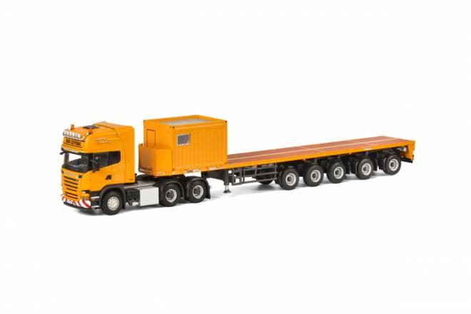 R Streamline Topline Ballast Trailer 5 axle + 10 FT Container -