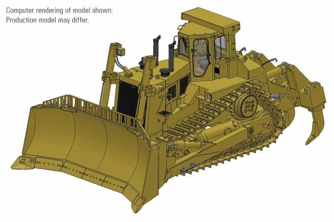 D11N Dozer with U-Blade & Multi-Shank Ripper