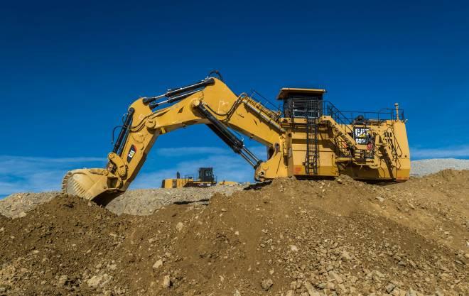 6060 Hydraulic Mining Shovel mit Tieflöffel