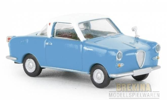 Coupe, blau/weiss