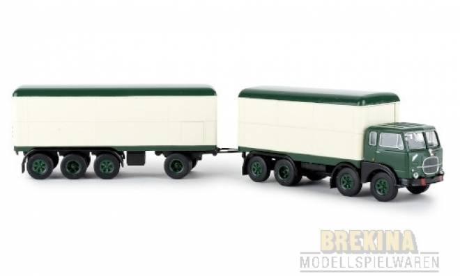 690 Millepiedi, dunkelgrün/weiss, Kofferzug, 1961