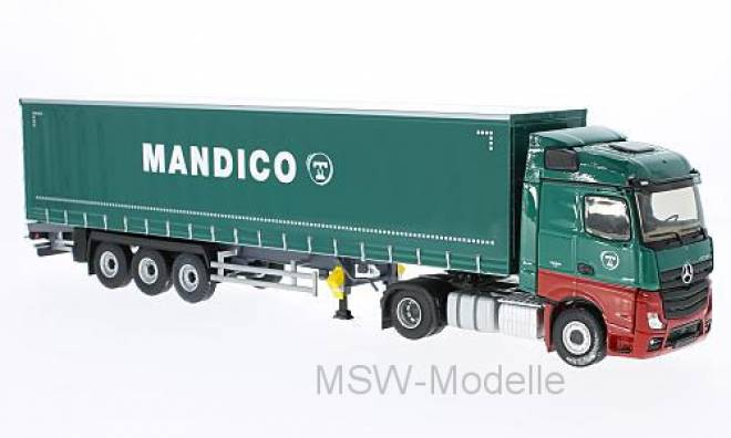 Actros 2 Tautliner, grün, Transports Mandico, ohne Vitrine