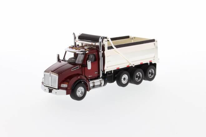 T880 SBFA Dump-Truck red, Chrome dump