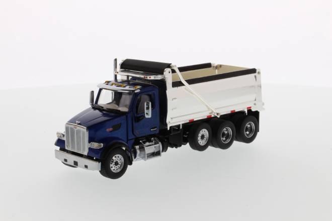 567 Dump Truck Blue, Chromed dump