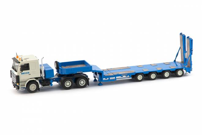 R143 6x4 with Goldhofer 4 axle semi low loader