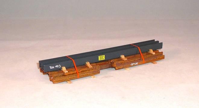 gemischte H-Stahlprofile auf Holzbalken Länge: 200 mm