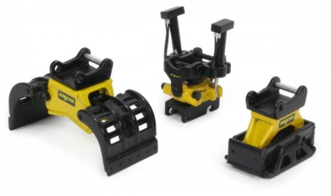 Tilrotator set  2 Kipprotor, Vibrationsplatte und Greifer