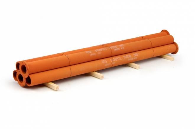 Hardox Stahlrohre verrostete (5 Stück) H=3,5cm x L=21cm x B=5cm Material: Holz und Kunststoff