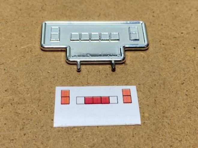 Gepäckträger hinter Kabine Chrom 9 Lichter