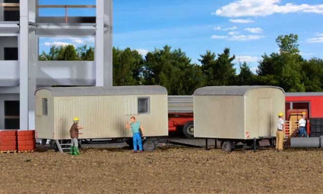 Bauwagen, 2 Stück