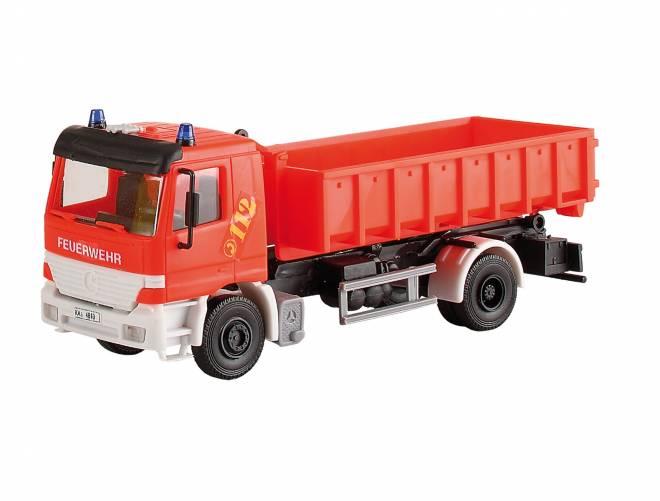 Feuerwehr ACTROS 2-achs mit Abrollcontainer