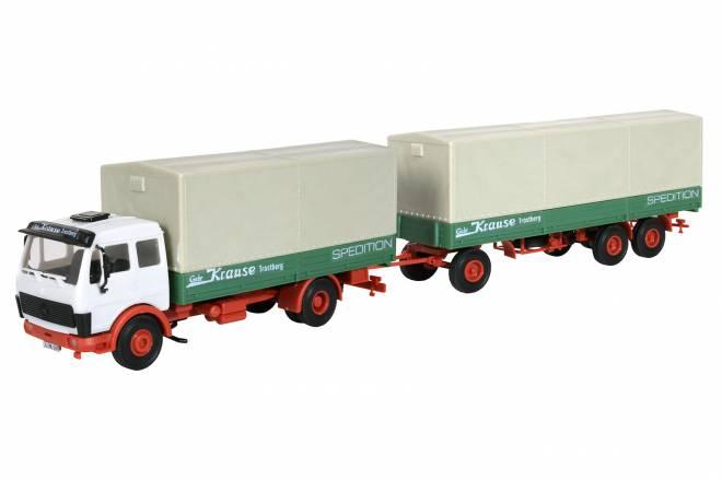 2-achs Zugmaschine mit Pritsche und Anhänger