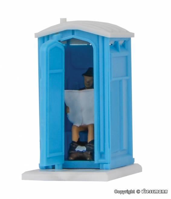 Baustellen-Toilette, bewegt sich