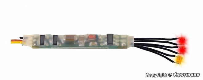 Mini-LED Feuer rot-gelb, 3 Stück mit Mikro-Blinkelektronik
