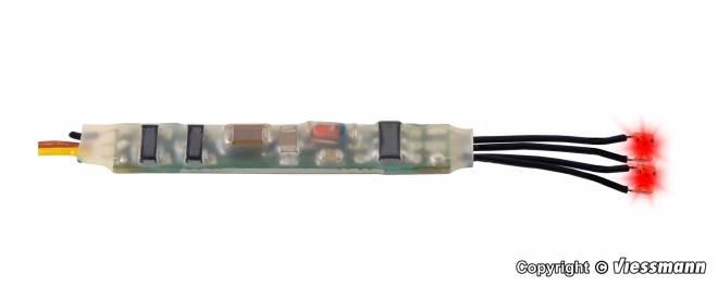 Mini-LED rot, 2 Stück mit Mikro-Blinkelektronik