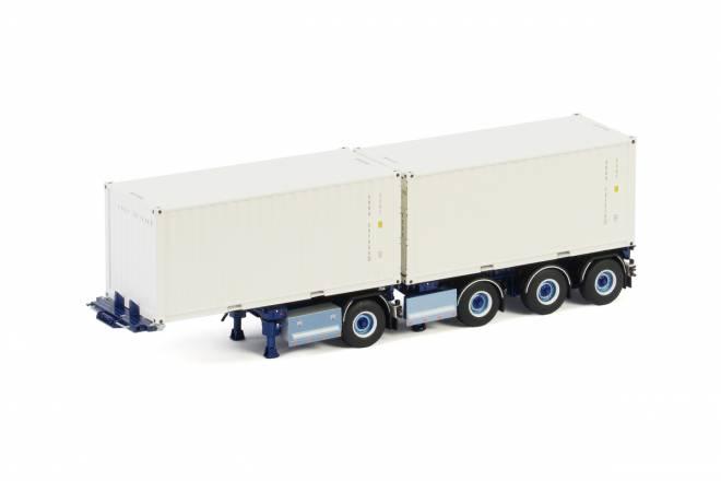 mit 2 x  20 Fuß Containern