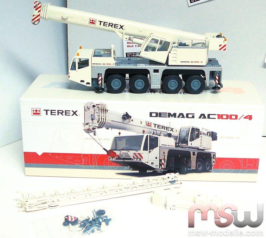 Demag Truck crane 4-axle 1:50 - Terex Autokran AC 100/4 Conrad 2104/0
