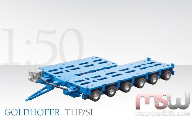 Goldhofer Schwerlastmodul THP//SL 4+3+3+3 Achsen Conrad Modelle 98019//31 1:50