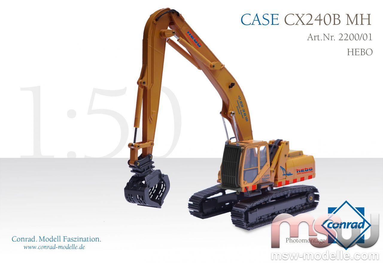Liebherr Tracked earthmover 1:50 - Case CX240B MH Hydraulik